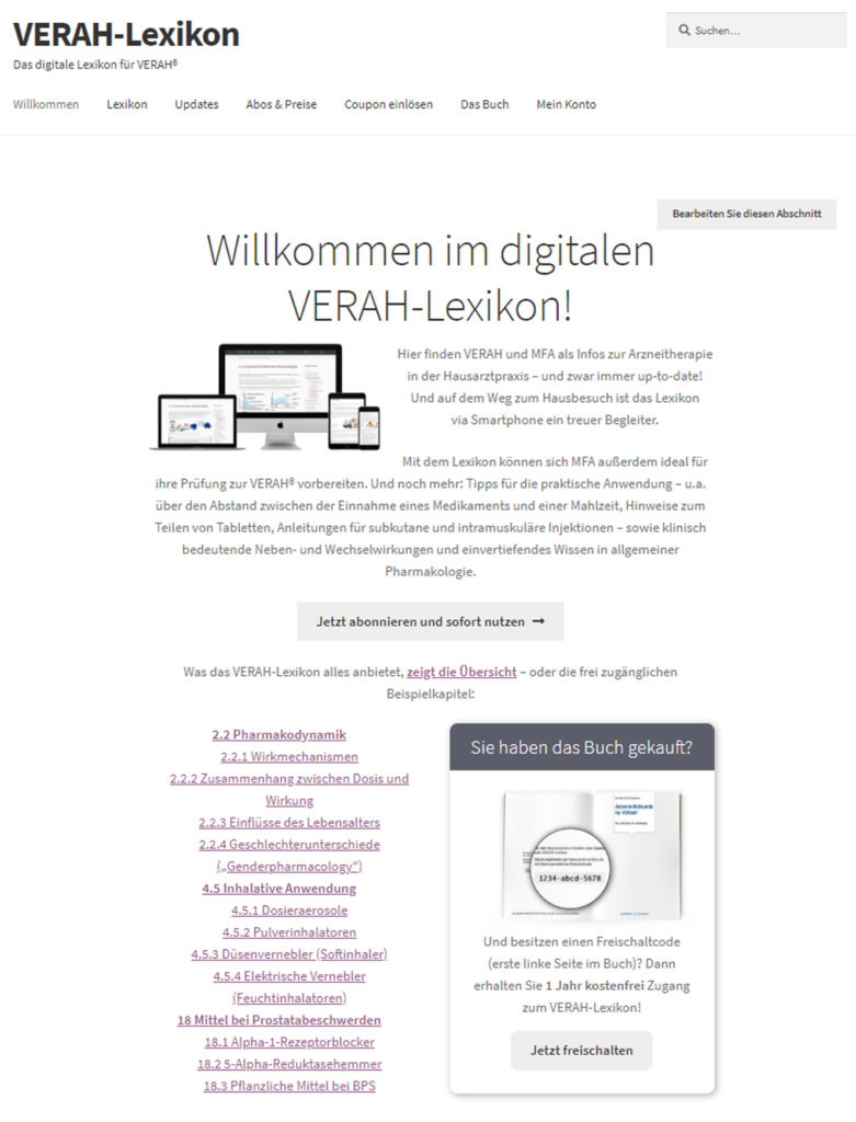 Website Verah lexikon
