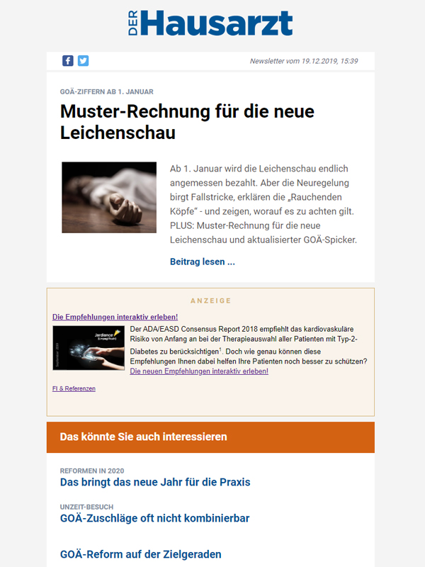 Newsletter Hausarzt Digital