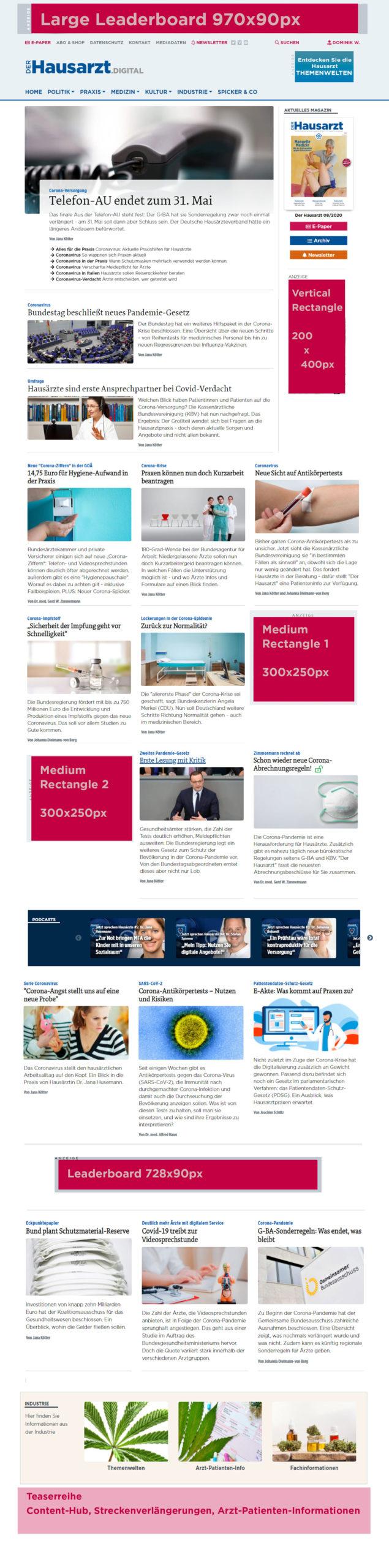 Werbeflaeche Homepage